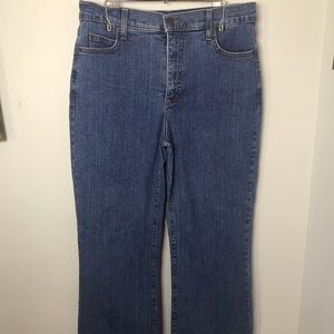 NYJD Jeans Bootcut Flare Size 6P Medium Denim Wash